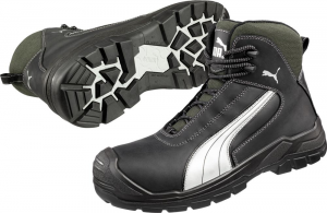 Ochrona stóp Buty Puma wysokie 630210, S3, roz. 48, czarny/srebrny Puma 630210,