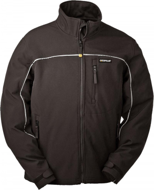 Kurtki i płaszcze CAT kurtka softshellowa ciepła, rozmiar XL, czarna ciepła,