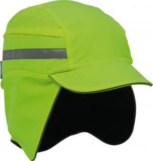 Ochrona głowy/twarzy Czapka F.B.3 Winter Hi-Vis, odblaski, żółta