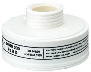 """Ochrona dróg oddechowych Filtr ślimakowy do cząstek stałych Dirin 230, P3R D """"230"""""""