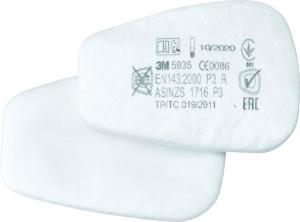 Ochrona dróg oddechowych Filtr z wkładem włókninowym 5935, P3R