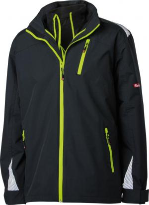 Kurtki i płaszcze FORTIS 3 w 1 kurtka 24, czarna/limonkowa, rozmiar 2XL czarna/limonkowa,