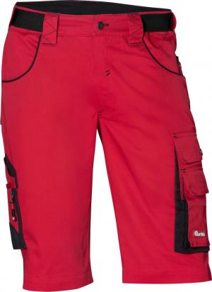Odzież robocza FORTIS Bermudy męskie 24, czarne/czerwone, roz. 52 bermudy