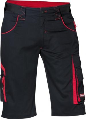 Odzież robocza FORTIS Bermudy męskie 24, czarne/czerwone, roz. 56 bermudy