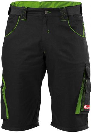 Odzież robocza FORTIS bermudy męskie 24, czarne/zielone, rozmiar 62 bermudy