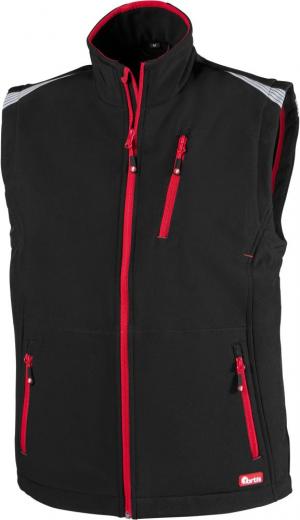 Kamizelki FORTIS kamizelka męska 24, czarna/czerwona, rozmiar 4XL czarna/czerwona,