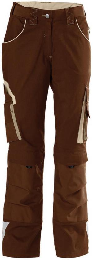Odzież robocza FORTIS spodnie damskie 24, brąz/beż, rozmiar 48 brąz/beż,