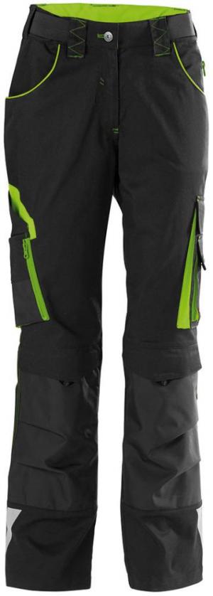 Odzież robocza FORTIS spodnie damskie 24, czarne/zielone, rozmiar 42 czarne/zielone,