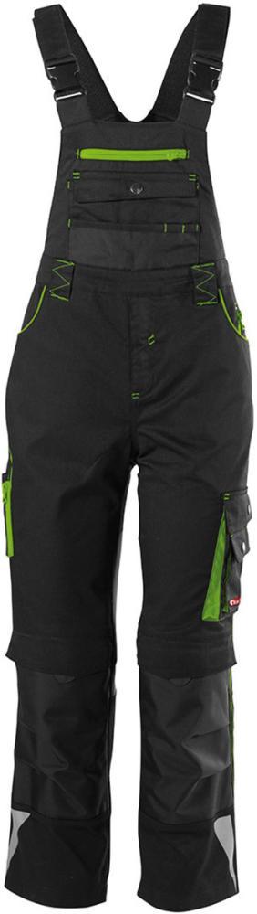 Odzież robocza FORTIS Spodnie dziecięce ogrodniczki 24, czarny/zielony, rozmiar 158-164 158-164