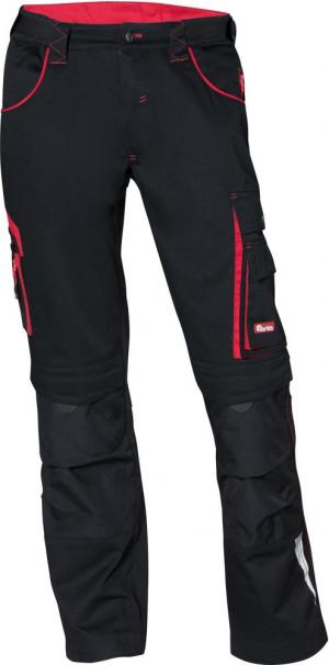 Odzież robocza FORTIS Spodnie H-band 24, czarne/czerwone, rozmiar 106 czarne/czerwone