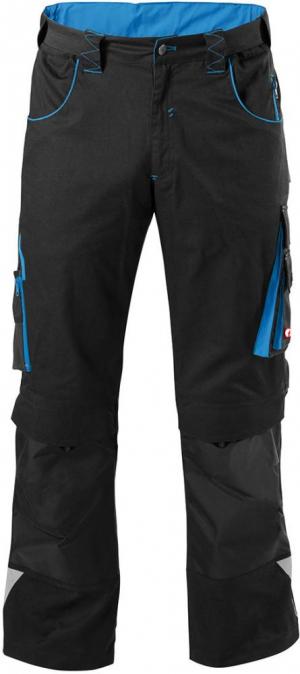 Odzież robocza FORTIS Spodnie H-band 24, czarne/turkusowe, rozmiar 54 czarne/turkusowe,