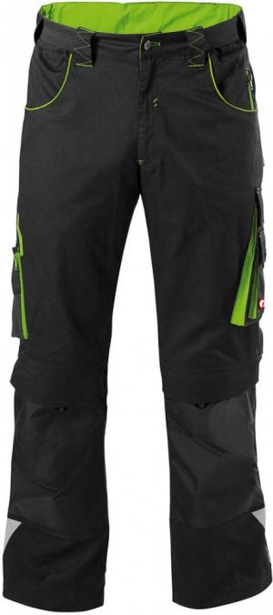 Odzież robocza FORTIS Spodnie H-band 24, czarne/zielone, rozmiar 27 czarne/zielone,