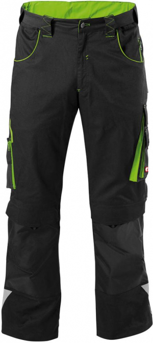 Odzież robocza FORTIS Spodnie H-band 24, czarne/zielone, rozmiar 64 czarne/zielone,