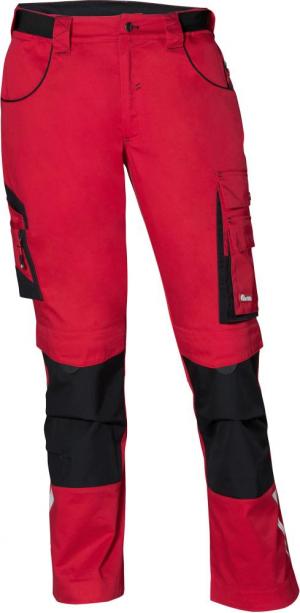 Odzież robocza FORTIS Spodnie H-band 24, czerwone/czarne, rozmiar 7 czerwone/czarne,