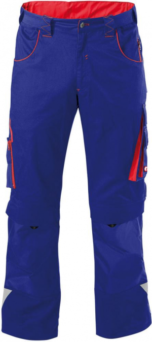 Odzież robocza FORTIS Spodnie H-band 24, niebieske/czerwone, rozmiar 50 fortis
