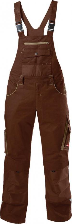 Odzież robocza FORTIS Spodnie ogrodniczki 24, brązowe/beżowe, rozmiar 56 brązowe/beżowe,