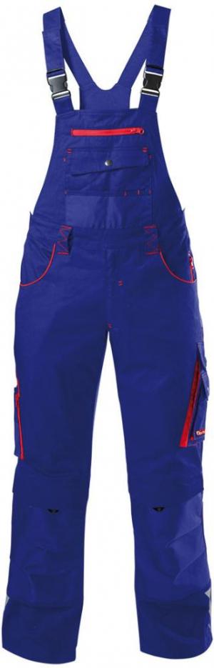 Odzież robocza FORTIS Spodnie ogrodniczki 24, niebieskie/czerwone, rozmiar 56 fortis