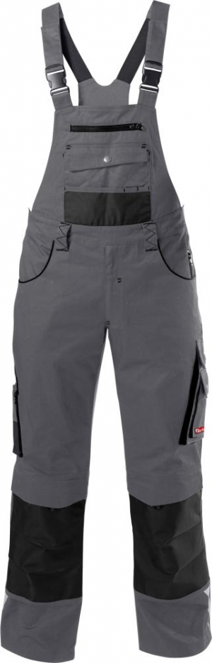 Odzież robocza FORTIS Spodnie ogrodniczki 24, szare, rozmiar 46 fortis