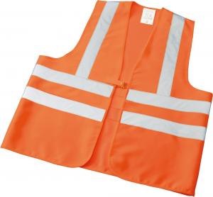 Odzież o wysokiej widoczności Kamizelka odblaskowa Wilfried, rozmiar L, tekstylna, pomarańczowa kamizelka
