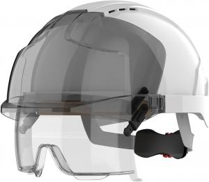 Ochrona głowy/twarzy Kask EVO VISTAlens z goglami, biały JSP biały