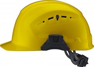 Ochrona głowy/twarzy Kask ochronny CrossGuard z blokadą skrętną, żółty
