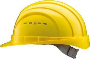 Ochrona głowy/twarzy Kask ochronny EuroGuard 4, EN 397, żółty