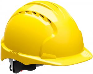 Ochrona głowy/twarzy Kask ochronny EVO3 z blokadą skrętną, EN 397, żółty 397,