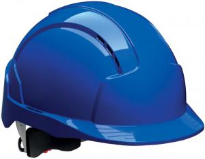 Ochrona głowy/twarzy Kask ochronny EVOLite z blokadą skrętną, niebieski blokadą
