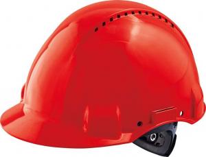 Ochrona głowy/twarzy Kask ochronny G3000N, ABS, system zapadkowy, czerwony