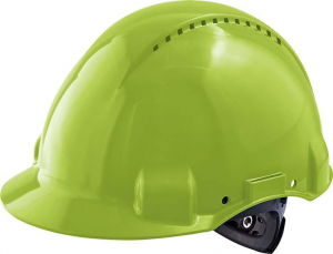 Ochrona głowy/twarzy Kask ochronny G3000N, ABS, system zapadkowy, neonowa zieleń