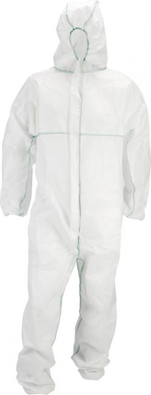 Odzież ochronna Kombinezon jednorazowy, PP, rozmiar 2XL, biały, FORTIS 2xl,