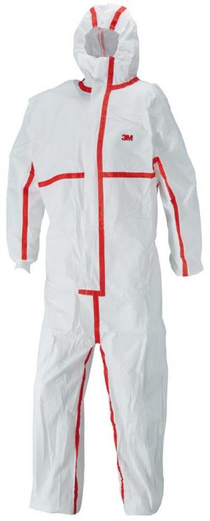 Odzież ochronna Kombinezon ochronny 4565, biały/czerwony typ 4/5/6 rozmiar XL