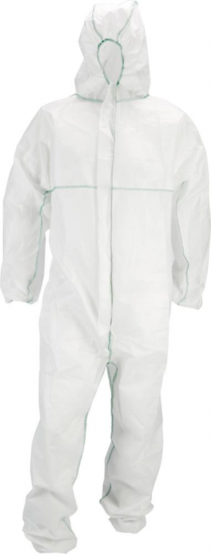 Odzież ochronna Kombinezon ochronny, jednorazowy Comfort, roz. L, biały, FORTIS biały