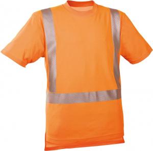 Odzież o wysokiej widoczności Koszulka ostrzegawcza fluorescencyjna pomarańczowa, rozmiar S fluorescencyjna