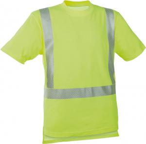 Odzież o wysokiej widoczności Koszulka ostrzegawcza fluorescencyjna żółta, rozmiar M fluorescencyjna