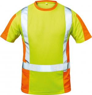 Odzież ochronna Koszulka ostrzegawcza Utrecht, rozmiar XL, żółty/pomarańczowy koszulka