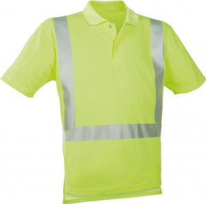 Odzież o wysokiej widoczności Koszulka polo ostrzegawcza fluorescencyjna żółta, rozmiar S fluorescencyjna