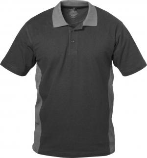 T-Shirt Koszulka polo Sevilla, rozmiar L, czarna/szara czarna/szara