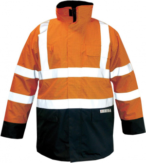 Odzież ochronna Kurtka M-Safe Multinorm pomarańczowo-niebieska, rozmiar XL kurtka