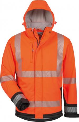 Odzież ochronna Kurtka ostrzegawcza Lukas, softshellowa, rozmiar XL, pomarańczowy/czarny kurtka
