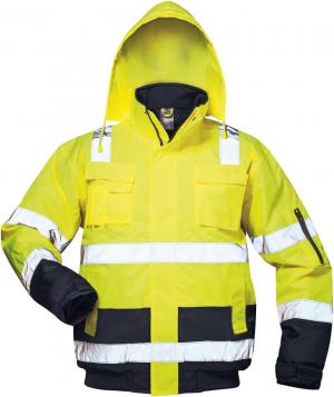 Odzież ochronna Kurtka ostrzegawcza pilotka Axel, rozmiar M, żółta/niebieska axel,