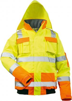 Odzież ochronna Kurtka ostrzegawcza pilotka Mats, rozmiar L, żółta/pomarańczowa kurtka