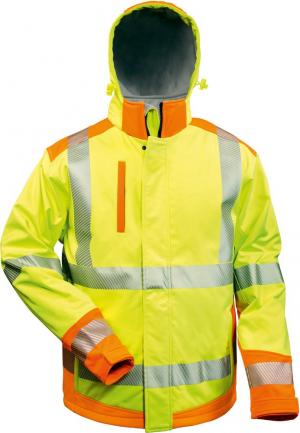 Odzież ochronna Kurtka ostrzegawcza Rickmer, Softshell, XL, żółty/pomarańczowy kurtka