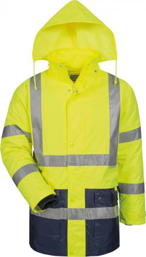 Odzież ochronna Kurtka ostrzegawcza, rozmiar XL, żółty/niebieski kurtka