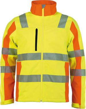 Odzież o wysokiej widoczności Kurtka ostrzegawcza Softshell, Prevent, żółta, rozmiar M kurtka