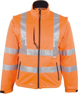 Odzież o wysokiej widoczności Kurtka ostrzegawcza, softshell, rozmiar M, pomarańczowy fluorescencyjny fluorescencyjny