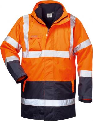 Odzież ochronna Kurtka ostrzegawcza Travis, rozmiar XL, pomarańczowy/bordowy kurtka