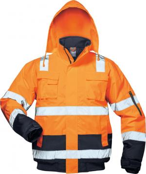 Odzież ochronna Kurtka pilotka ostrzegawcza Jonas, roz. XL, pomarańczowy/niebieski jonas,