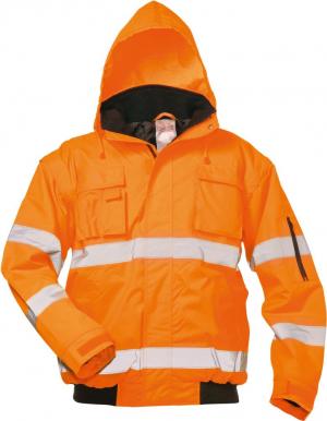 Odzież ochronna Kurtka pilotka ostrzegawcza Tom, rozmiar 2XL, pomarańczowa 2xl,