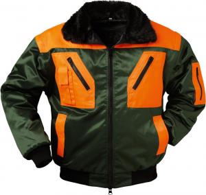 Odzież ochronna Kurtka pilotka Redthorn, rozmiar S, zielony/pomarańczowy kurtka